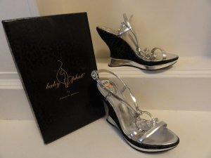 °°°Baby Phat High Heels, Pumps, Wedges, USA, Siber, Strass,NEU°°°