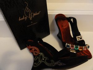 Baby Phat Wedge Sandals multicolored