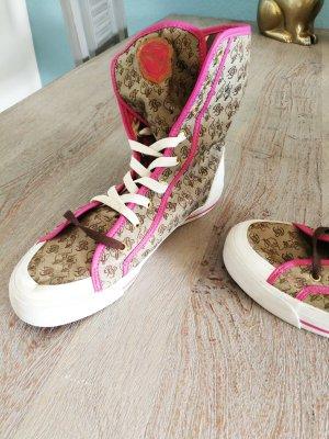 Baby Phat Sneaker alta marrone-magenta
