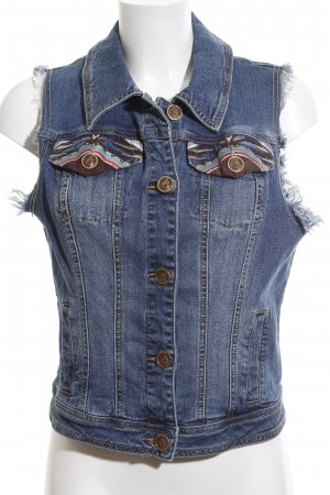 Baby Phat Jeansweste blau grafisches Muster Casual-Look