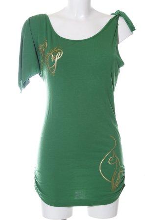 Baby Phat Longsleeve green themed print casual look