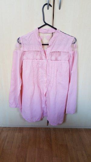 Baby pink Hemd mit Spitze, Gr.M