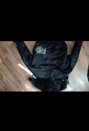 Bomber Jacket black-silver-colored