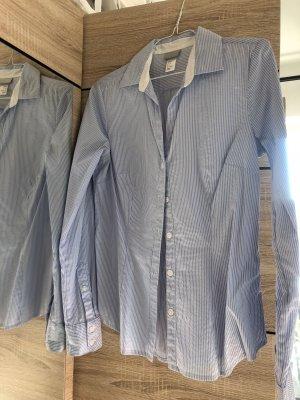 H&M Camicetta a maniche lunghe bianco-celeste