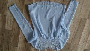 babyblaue transparente Bluse