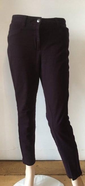 Cambio Pantalone di velluto a coste marrone-viola
