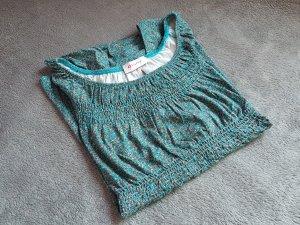 Babydoll Blau Grün Muster Schleife Orsay Gr. 38