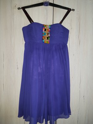 Laona Babydoll-jurk donkerpaars