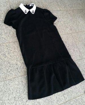 Babydoll Dress Peter-Pan-Collar Peplum Kleid Bubikragen A-Linie