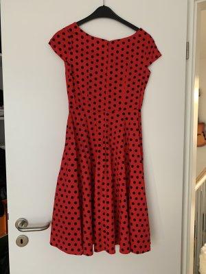 Babydoll-jurk rood-zwart