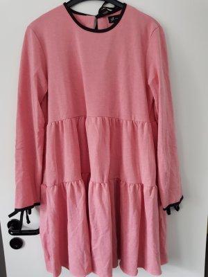 Reserved Vestido babydoll rosa tejido mezclado