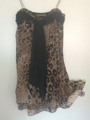 Babydoll-Kleid mit Leo-Muster