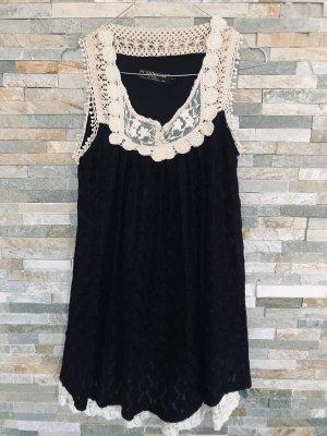 Babydoll Kleid mit Spitze & Perlen gr. S