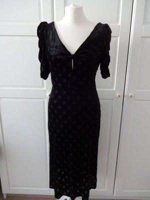Mango Babydoll Dress black polyester