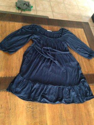 Babydoll-Oberteil in dunkelblau