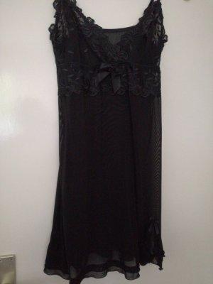 Négligé noir polyester