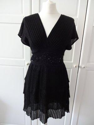 Mango Robe en maille tricotées noir