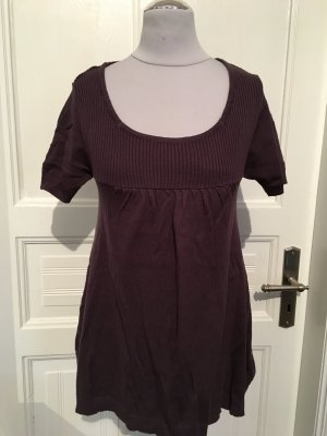 Short Sleeve Sweater grey violet