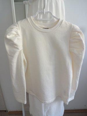 babydoll Sweatshirt creme puffärmel