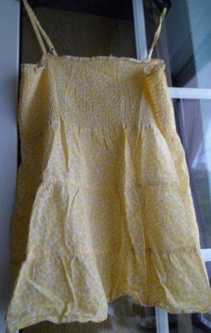 Babydoll Top, H&M, Gr. 36, gelbes Blumenmuster