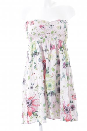 Babydoll-jurk bloemenprint straat-mode uitstraling