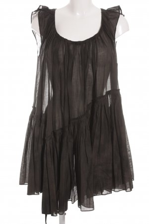 Babydoll Dress dark brown-brown romantic style