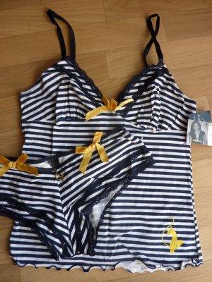 BabyPhat Top 38 Hose Unterwäsche Set Marine blau weiss gestreift