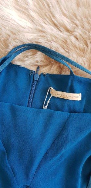 Stretch jurk lichtblauw-azuur