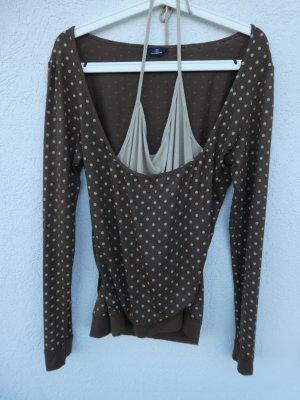Camisa marrón claro-marrón oscuro Viscosa
