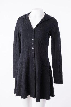 Backstage Vestido con capucha negro Algodón