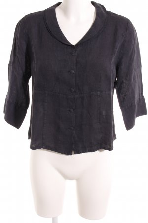 Backstage Linen Blouse dark blue casual look