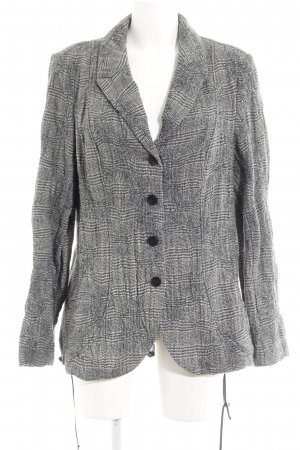 Backstage Long-Blazer grau-schwarz Karomuster Casual-Look
