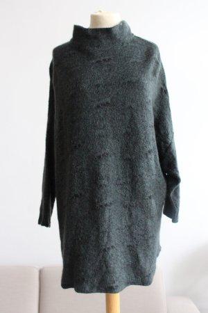 Backstage Coarse Knitted Sweater dark green mixture fibre