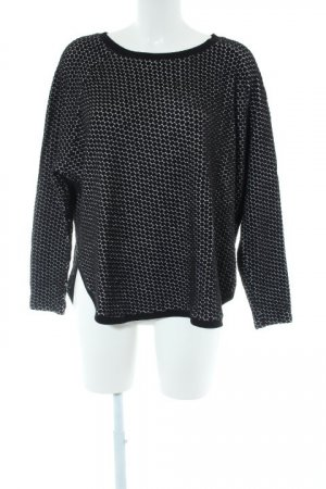 Backstage Crewneck Sweater black spot pattern casual look