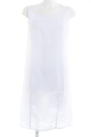 Backstage schulterfreies Kleid weiß schlichter Stil