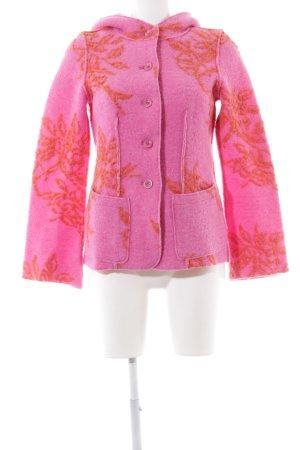 Backstage Übergangsjacke pink-hellorange Blumenmuster Casual-Look
