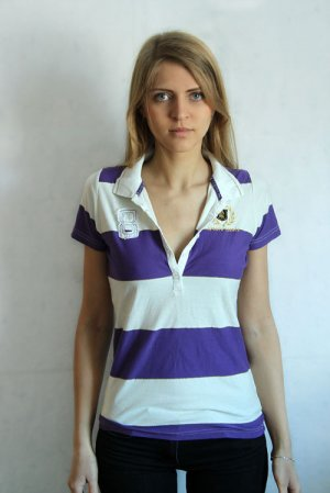 Backswing Striped Polo-Shirt