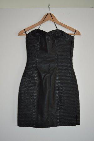 H&M Leather Dress black imitation leather