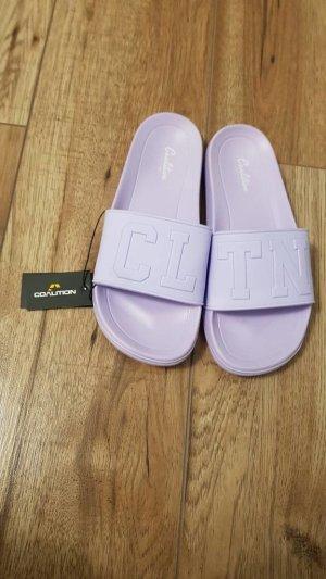 Crocs Flip-Flop Sandals purple synthetic material