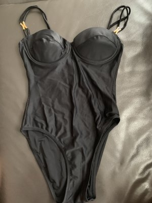 Swimsuit black-gold-colored