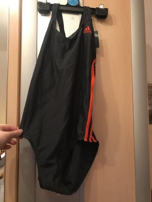 Adidas Swimsuit dark grey-neon orange