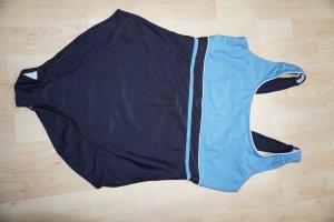 Crane Traje de baño azul oscuro-azul neón poliamida