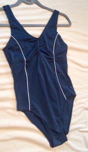 Tchibo / TCM Zwempak wit-donkerblauw Polyester