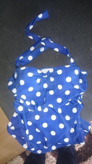 Badeanzug dunkelblau mit weißen Punkten