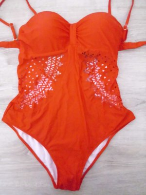 Swimsuit red mixture fibre