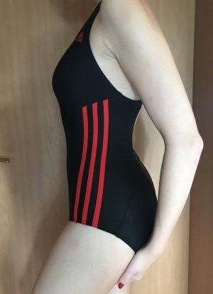 Badeanzug Größe 36 schwarz mit roten Streifen