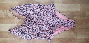 Badeanzug Hunkemöller rose schwarz Leoparden L