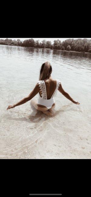 Badeanzug in weis
