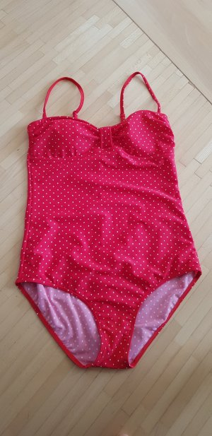 Swimsuit white-red