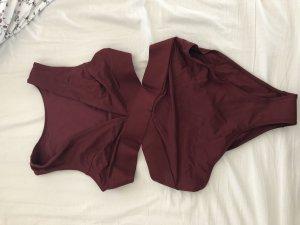 H&M Costume da bagno bordeaux-carminio